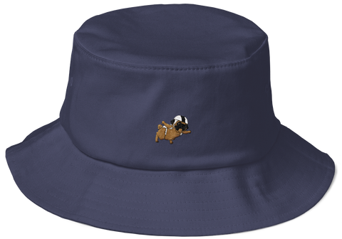 Pug Bucket Hat For Women | Funny Skydiving Dog Cap | The Jazzy Panda