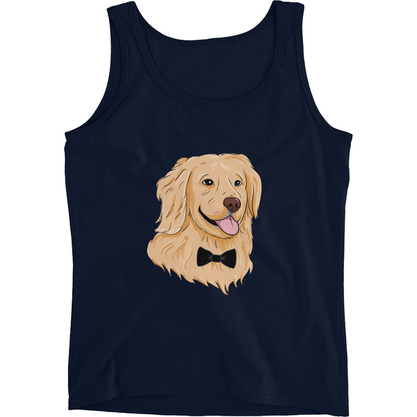 Golden Retriever Tank Top Shirt For Women | Funny Dog Tee | The Jazzy Panda
