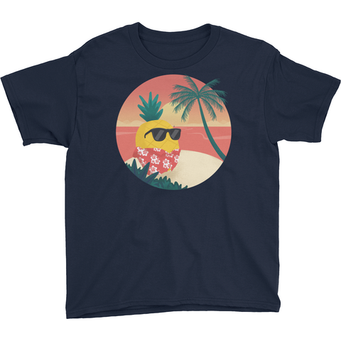 Pineapple T Shirt For Boys | Tropical Hawaiian Tee | The Jazzy Panda