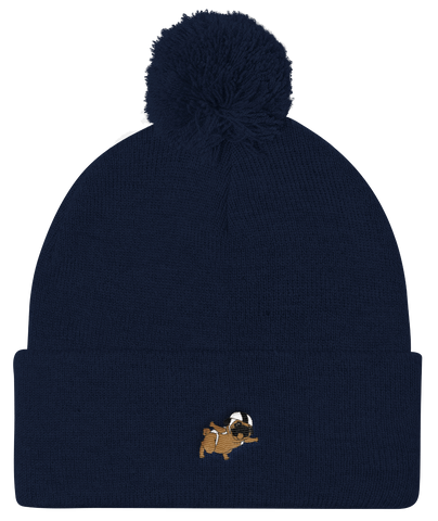 Pug Beanie Hat For Women | Funny Skydiving Dog Cap | The Jazzy Panda