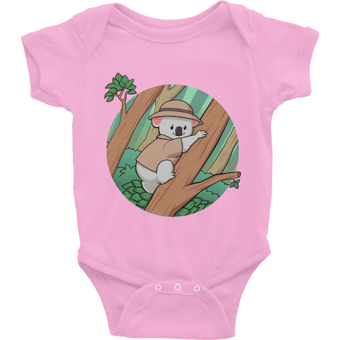 Koala Bear Baby Girl Onesie | Funny Animal Romper | The Jazzy Panda