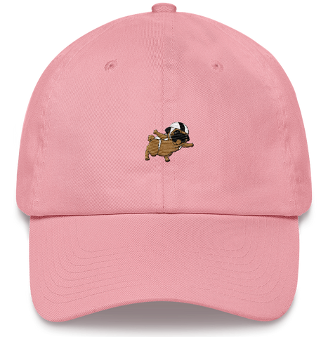 Pug Baseball Cap For Women | Funny Skydiving Dog Dad Hat | The Jazzy Panda