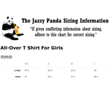 Husky All-Over T Shirt For Girls | Funny Siberian Dog Tee | The Jazzy Panda