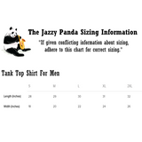 Sizing Chart | Avocado Tank Top T Shirt For Men | Funny Vegan Gym Gift Tee | The Jazzy Panda