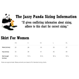 Panda Skirt For Women | Funny Bear Lover Gift Apparel | The Jazzy Panda