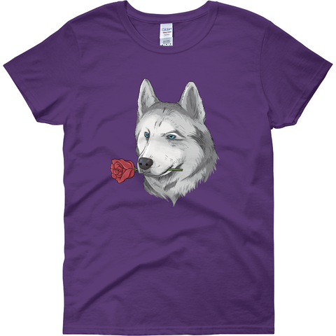 Husky T Shirt For Women | Funny Siberian Dog Tee | The Jazzy Panda