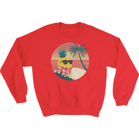Pineapple Crewneck For Men | Tropical Hawaiian Sweatshirt | The Jazzy Panda