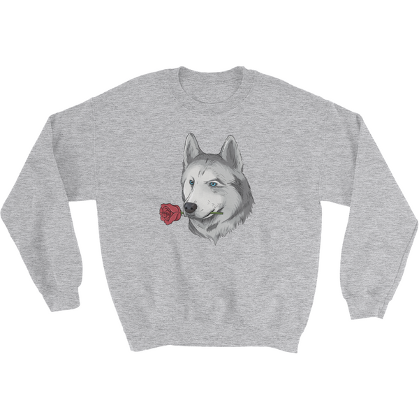 Husky Crewneck For Women | Funny Siberian Dog Sweatshirt | The Jazzy Panda
