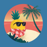 Pineapple T Shirt For Girls | Tropical Hawaiian Tee | The Jazzy Panda