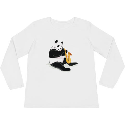 Panda Long Sleeve T Shirt For Women | Funny Bear Lover Gift Tee | The Jazzy Panda