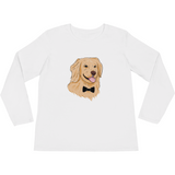 Golden Retriever Long Sleeve T Shirt For Women | Funny Dog Tee | The Jazzy Panda