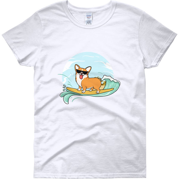 Corgi T Shirt For Women | Funny Pembroke Welsh Dog Tee | The Jazzy Panda