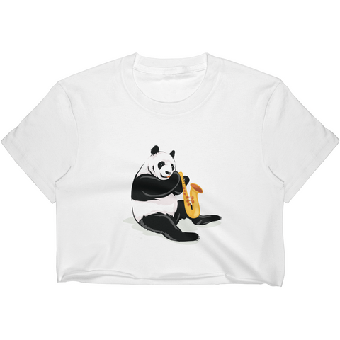 Panda Crop Top For Women | Funny Bear Lover Gift Tee | The Jazzy Panda