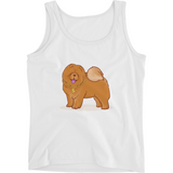 Chow Chow Tank Top Shirt For Women | Funny Dog Lover Tee | The Jazzy Panda