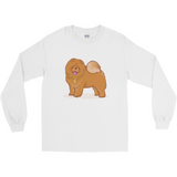 Chow Chow Long Sleeve T Shirt For Men | Funny Dog Lover Tee | The Jazzy Panda