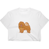 Chow Chow Crop Top For Women | Funny Dog Lover Tee | The Jazzy Panda