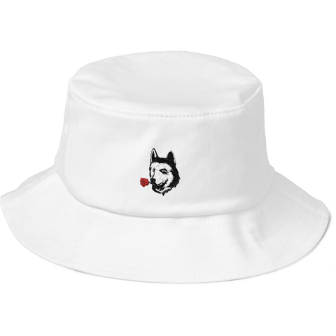 Husky Bucket Hat For Women | Funny Siberian Dog Cap | The Jazzy Panda