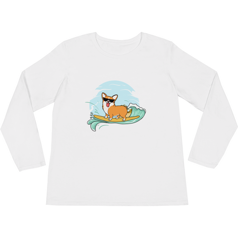 Corgi Long Sleeve T Shirt For Women | Funny Pembroke Welsh Dog Tee | The Jazzy Panda