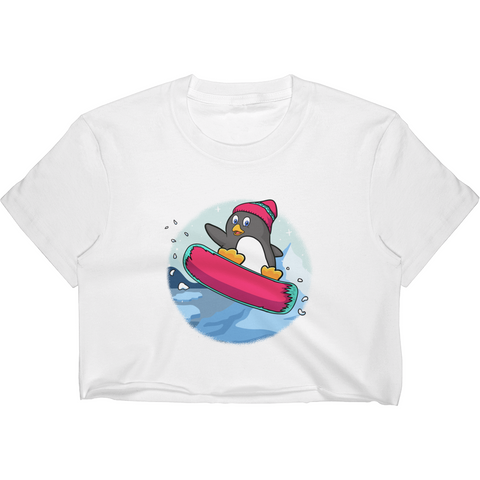 Penguin Crop Top For Women | Funny Zoo Animal Tee | The Jazzy Panda