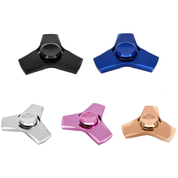 Hand Fidget Tri-Spinner – Stress Reducer – Relieves Anxiety and Boredom – Aluminum and Copper – 5 Colors