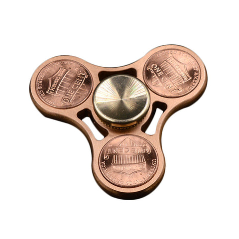 Hand Fidget Spinner – Copper Pennies - Stress Reducer – Relieves Anxiety and Boredom