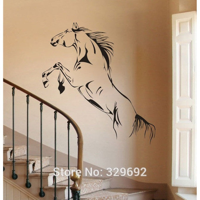 jumping horse wall stickers art vinyl decal stylish home graphics