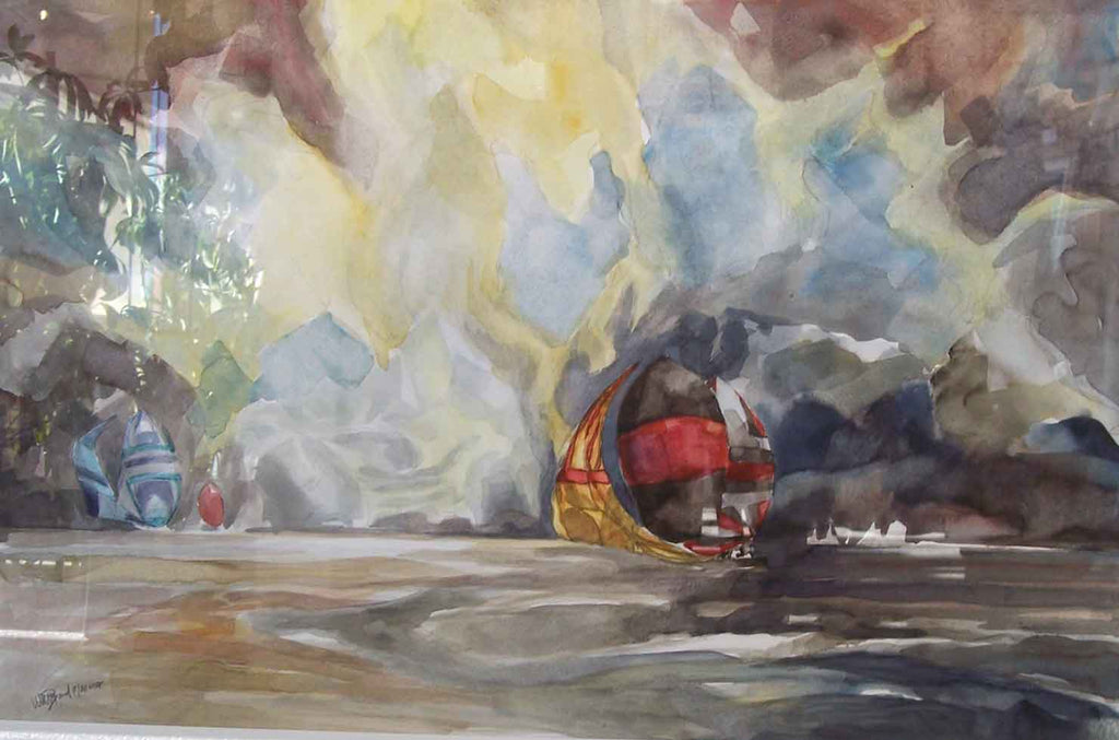 Dawn Patrol Original Watercolor Painting by Willard Bond