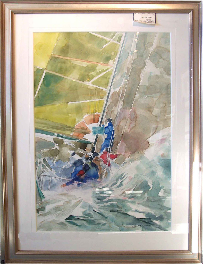 Flying to the Mark Original Watercolor Painting by Willard Bond