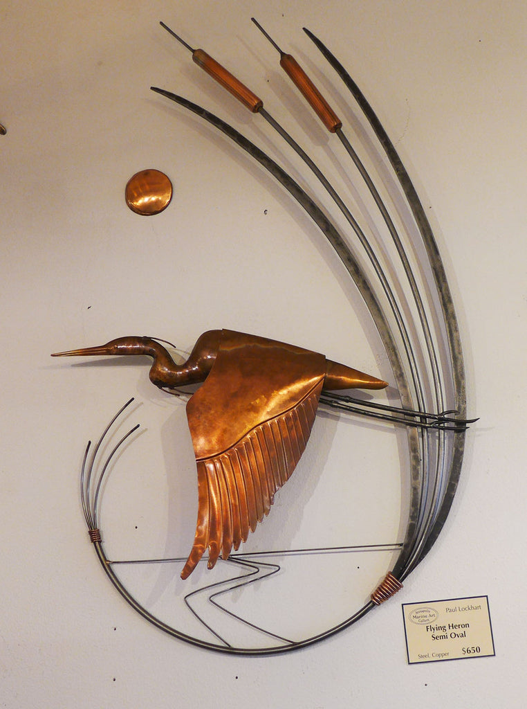 COPPER FLYING HERON SEMI OVAL