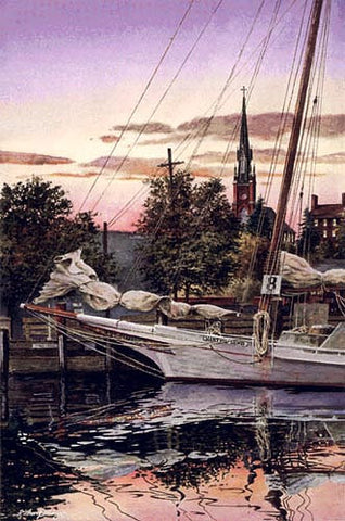 Mary and Martha – Classic Skipjack Oyster Boat Martha Lewis, and St. Mary's Church, Annapolis