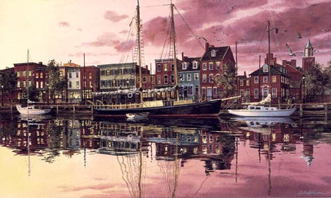 """NIGHTFALL AT FELL€S POINT"" BALTIMORE, MARYLAND"
