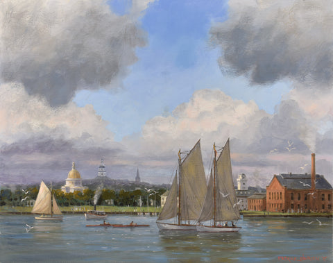 VIEW OF ANNAPOLIS IN 1920