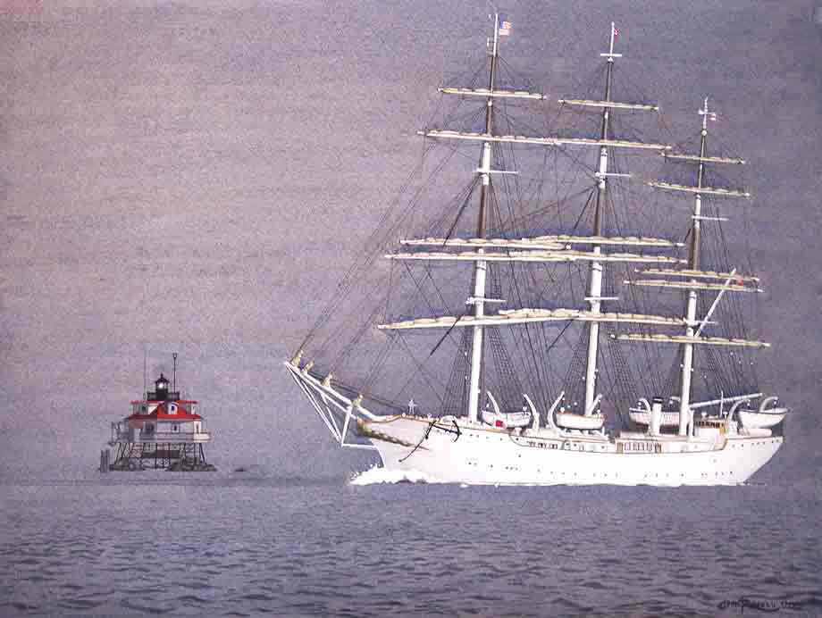 TALL SHIP AT THOMAS POINT LIGHT