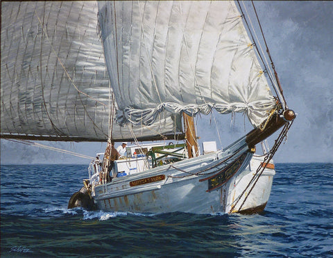 Skipjack on the Bay by Howard Schafer