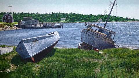 Beal's Island Shoreline by Howard Schafer