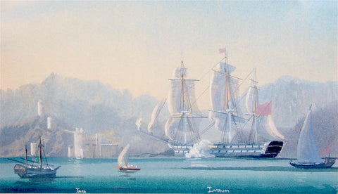 THE SHIP IMAUM IN MUSCAT HARBOR, 1836
