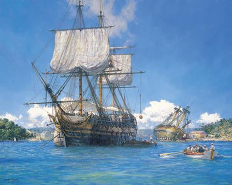 HMS TRUSTY IN ENGLISH HARBOR ANTIGUA