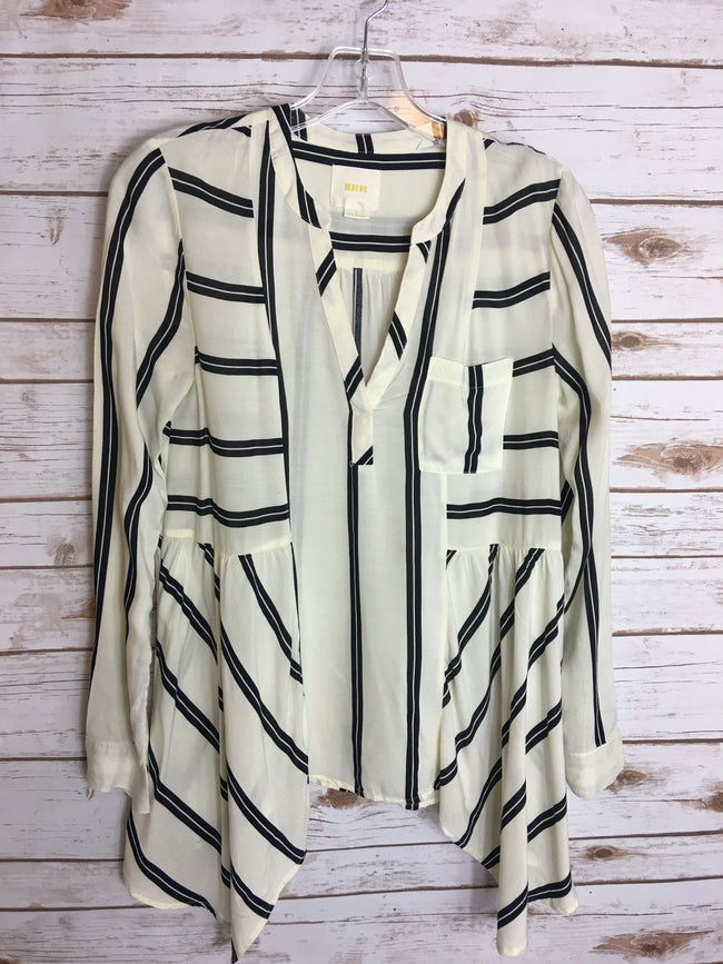 MAEVE Striped Blouse (0) - The Paper Chandelier