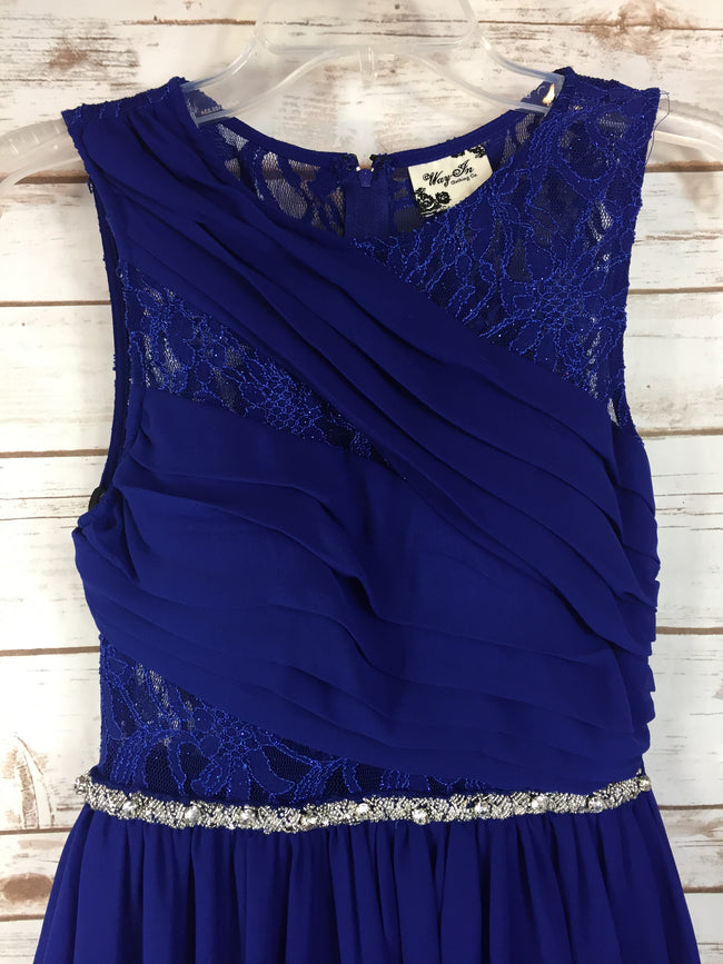 WAY IN Blue Cocktail Dress (5) NWT