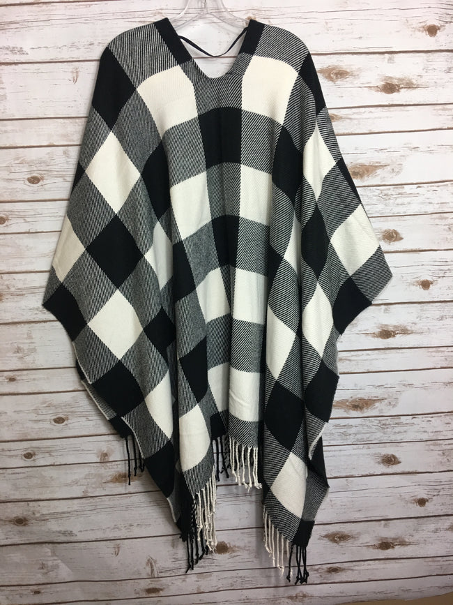 TREASURE & BOND Women's Checkered Cape (O/S)