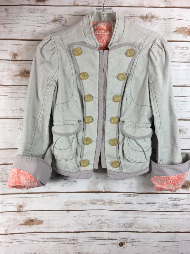 BICA CHEIA Light Grey Corduroy Jacket (2) - The Paper Chandelier