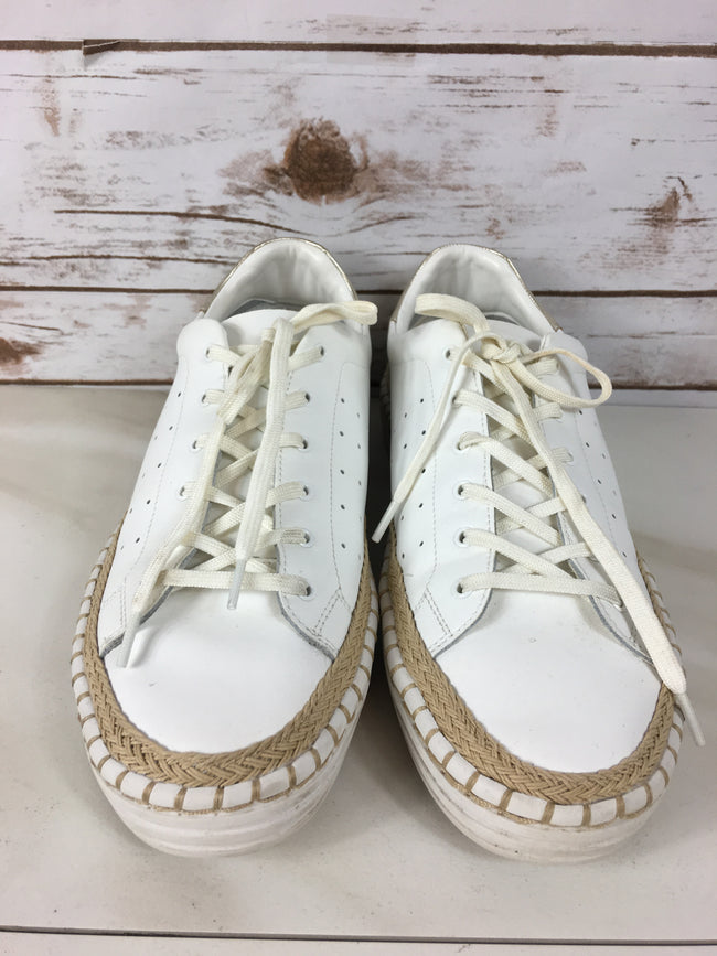 SAM EDELMAN White Lace-up Leather Sneaker (10)