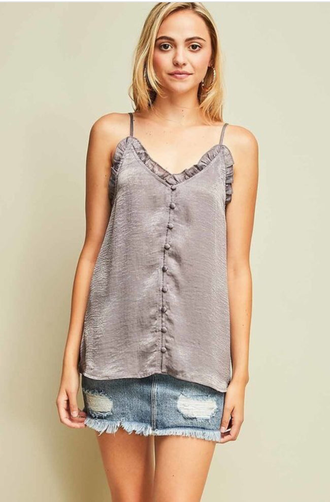 LAYERING Sleeveless Grey Top NEW (S,M,L) ENTRO - The Paper Chandelier