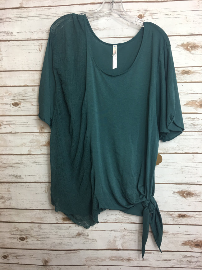 FREE PEOPLE Teal Top (XS) - The Paper Chandelier
