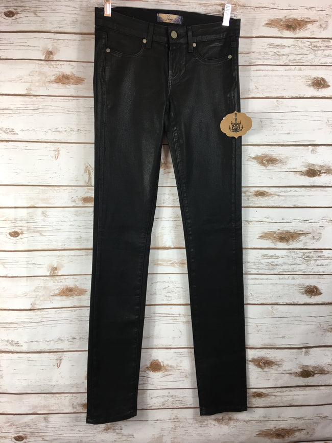 PAIGE Peg Black Coated Skinny Denim (25)