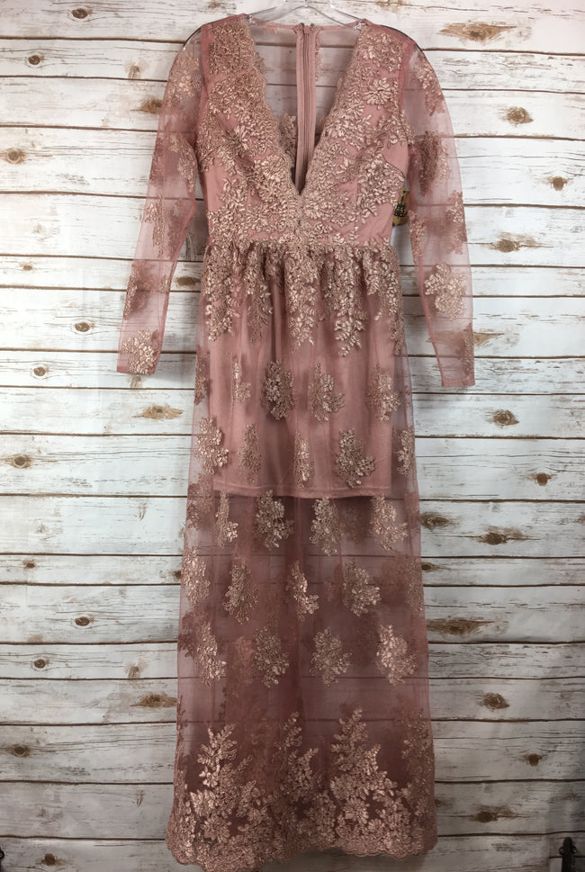 SOIEBLU Rose Lace Maxi Dress (M) NEW
