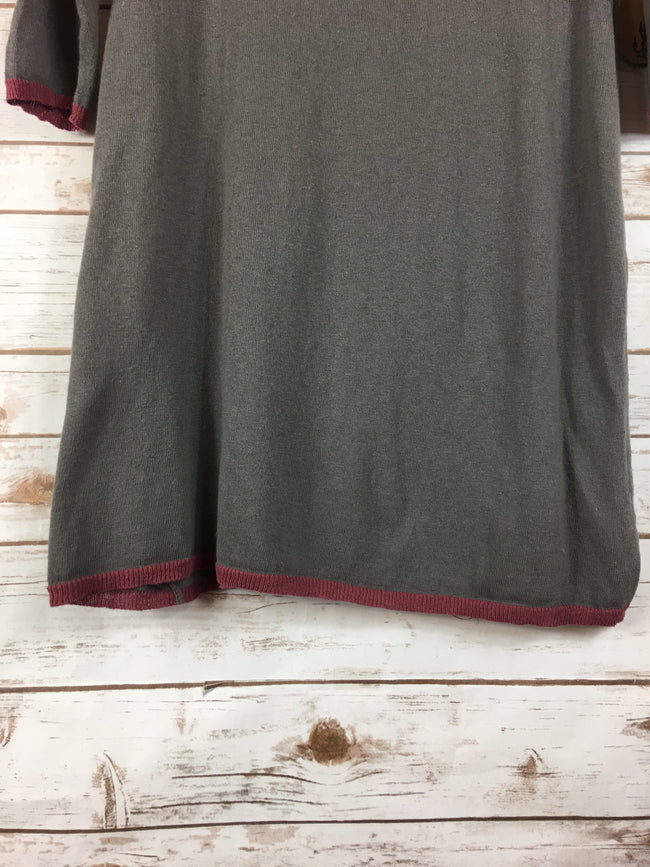 LELE Thin Knit Brown Tunic Sweater (S/M) - The Paper Chandelier