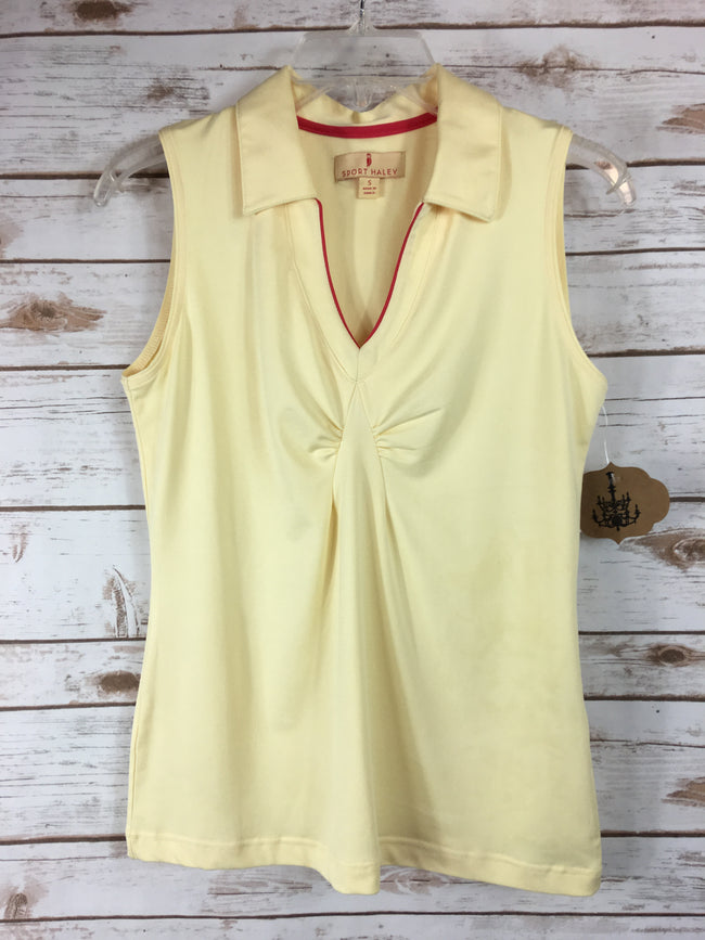 SPORT HALEY Athletic Yellow Sleeveless  Top (S) - The Paper Chandelier