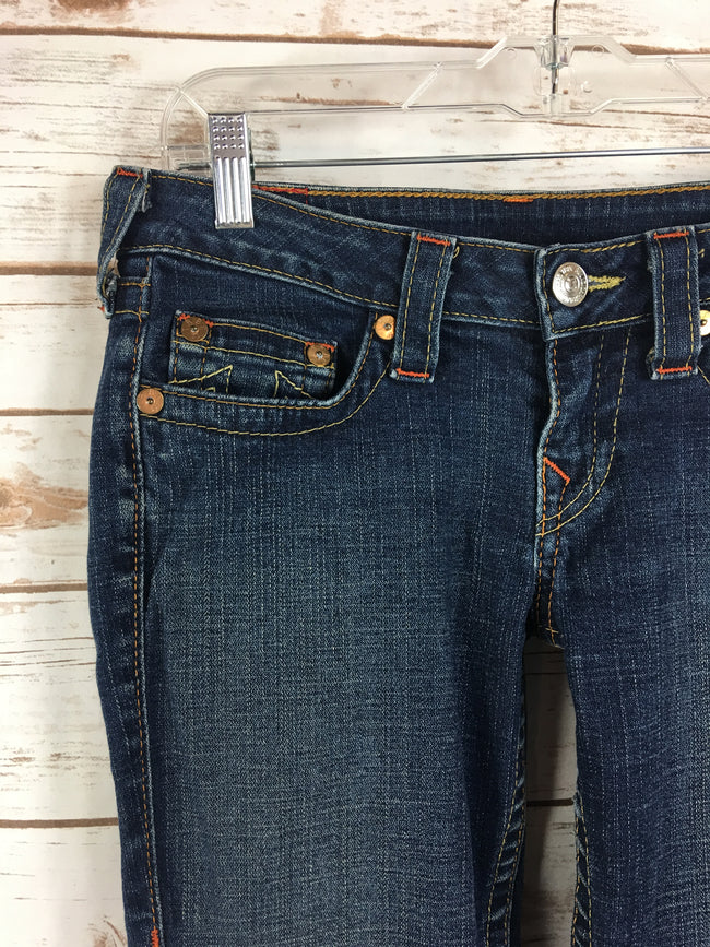 TRUE RELIGION Ankle KATE Dark Denim (28)