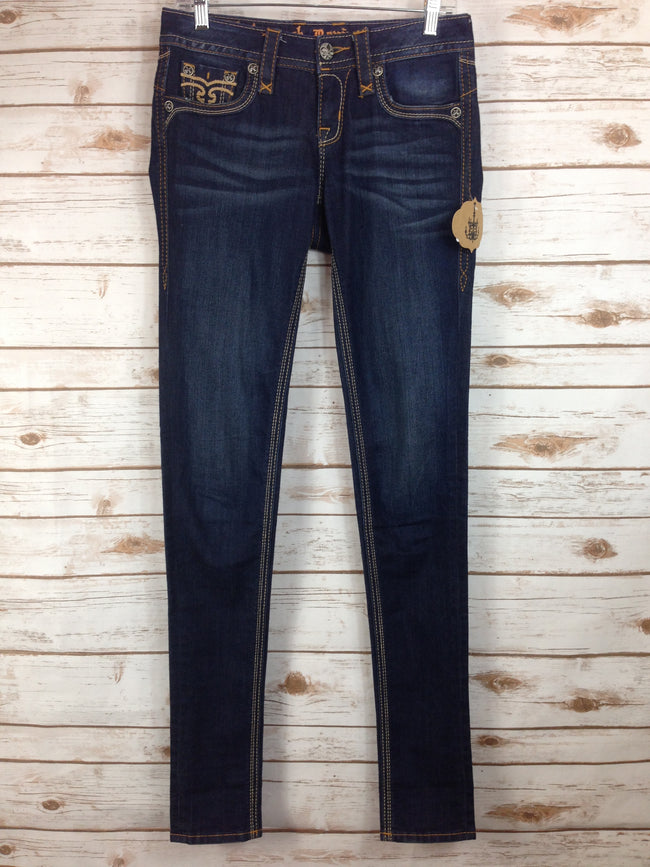 ROCK REVIVAL Calli Dark Skinny Denim (26)